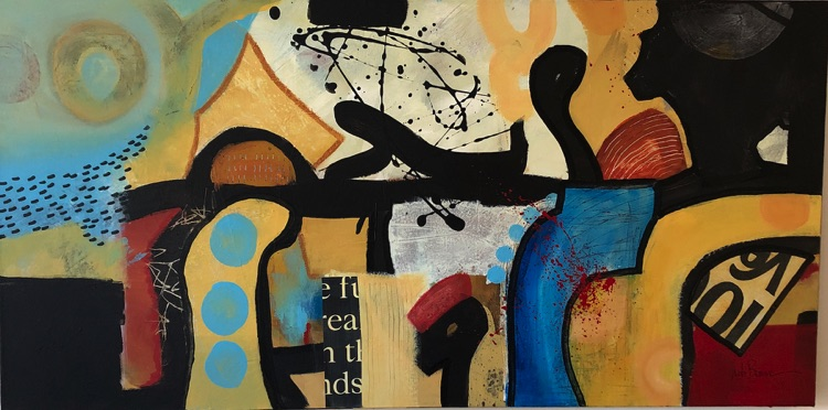 New Orleans Jazz an exciting piece of abstract art by Anita Brown